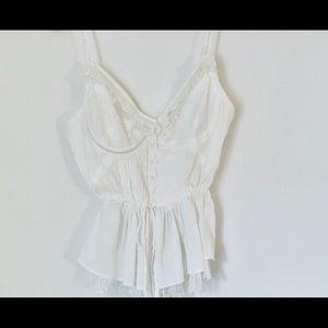 White feminine top
